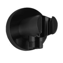RND Shower Outlet Elbow With Handshower Holder Black