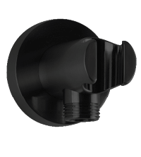 RND Shower Outlet Elbow With Handshower Holder Black Product Image