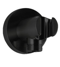 RND Shower Outlet Elbow With Handshower Holder Black Product Image