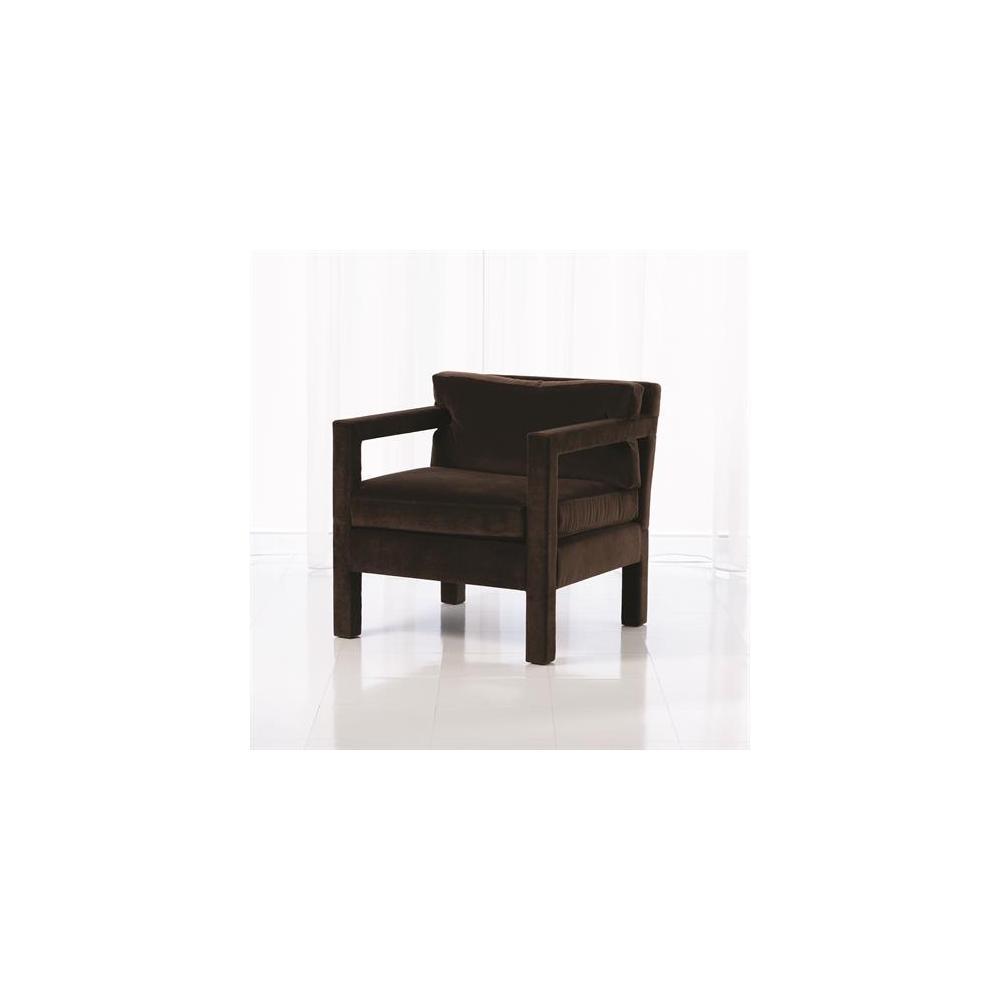 Swank Club Chair-Chocolate