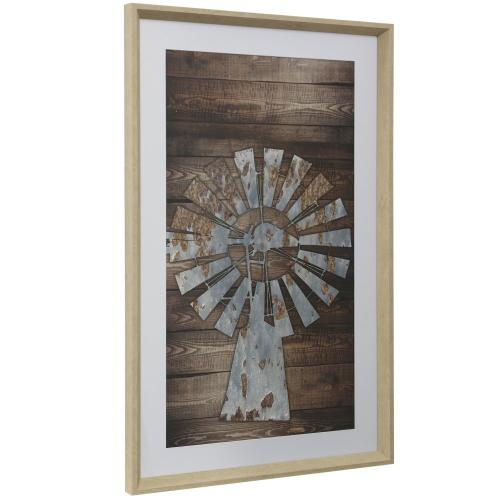 Style Craft - RUSTIC WIND  16in w X 41in ht  Framed Print Under Glass with Matte