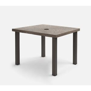 "42"" Square Balcony Table (with Hole) Ht: 34.25"" Post Aluminum Base (Model # Includes Both Top & Base)"