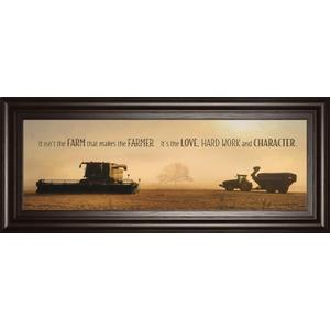 """The Farmer"" By Lori Dieter Framed Photo Print Wall Art"