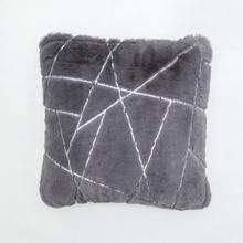 """See Details - Metallica Pillow Collection - 20"""" x 20"""" / Charcoal Line / 100% Polyester, Machine Made, Made in China"""