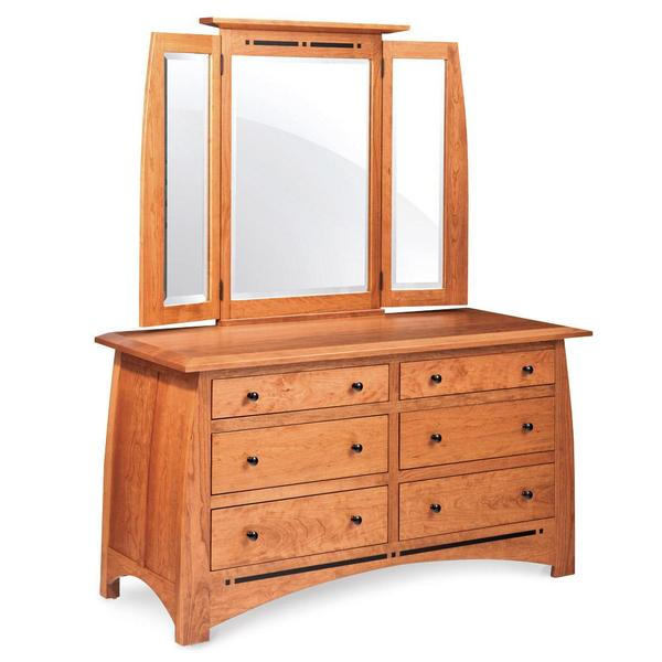 See Details - Aspen 6-Drawer Dresser with Inlay, 60'w x 24'd x 33'h
