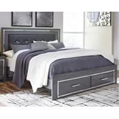 Lodanna King Panel Bed With 2 Storage Drawers