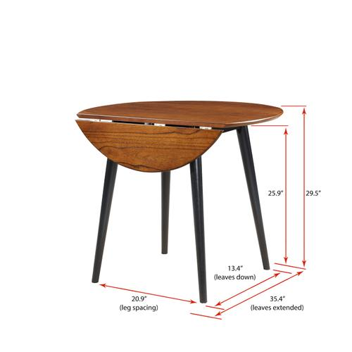 Round Dropleaf Dining Table