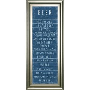 """""""Beer Styles"""" By The Vintage Collection Framed Print Wall Art"""