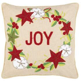 Jolly Joy Pillow - Green / Red / Beige