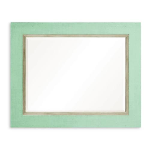 """Robin's Egg and Silver """"Homespun"""" Mirror"""