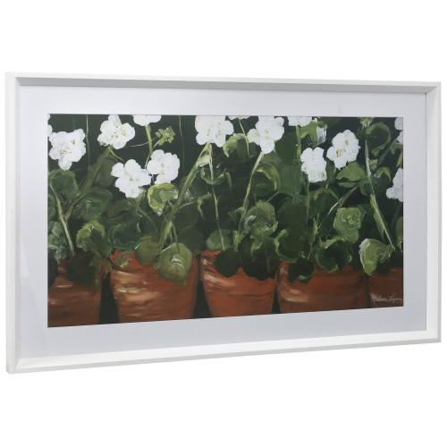 Style Craft - POTTED  21in w X 35in ht  Framed Print Under Glass with Matte