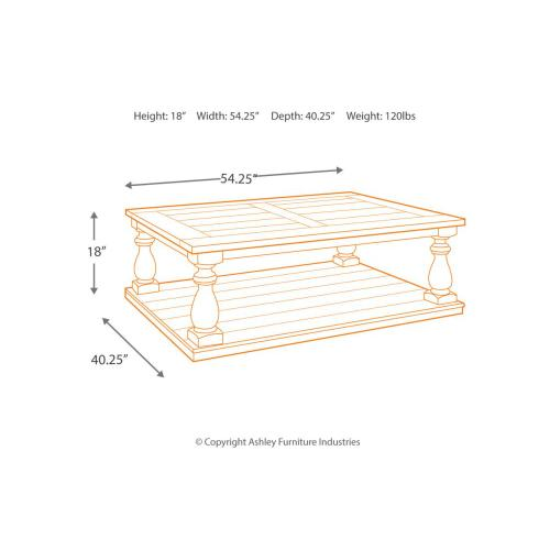 T880-1  Rectangular Cocktail Table
