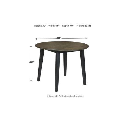 Froshburg Round Table Grayish Brown/Black