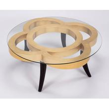 """View Product - Coffee Table with Glass 44x44x18"""""""