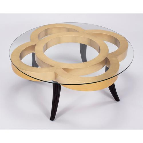 """Artmax - Coffee Table with Glass 44x44x18"""""""