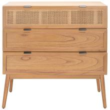 See Details - Baisley 3 Drawer Rattan Chest - Natural