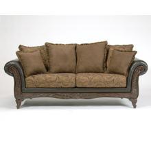 San Marino 2-Tone Chocolate Microfiber Sofa Made in USA
