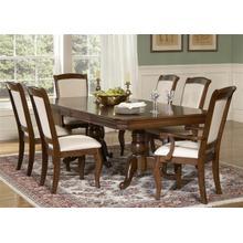 View Product - 7 Piece Double Pedestal Table Set