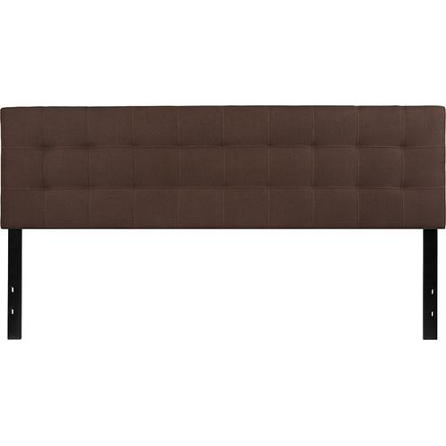 Flash Furniture - Bedford Tufted Upholstered King Size Headboard in Dark Brown Fabric