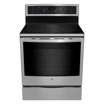 """GE Profile 30"""" Electric Free Standing Induction Range with Storage Drawer Stainless Steel - PCHB920SMSS"""