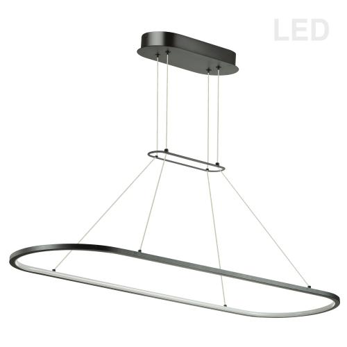 Product Image - 46w Horiz Pendant Mb W/ Wh Acrylic Diffuser