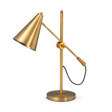 "Fragon I (26""H) Gold-Tone Metal Adjustable Cone Shade Table Lamp"