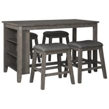 Caitbrook 5PC Counter Dining Set w/ Storage (D388)
