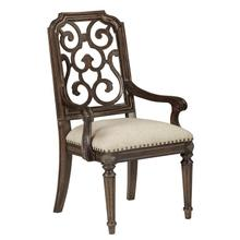 Vintage Salvage Tristan Fret Back Arm Chair