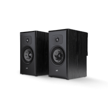 LARGE PREMIUM BOOKSHELF SPEAKERS (PAIR) in Black Ash