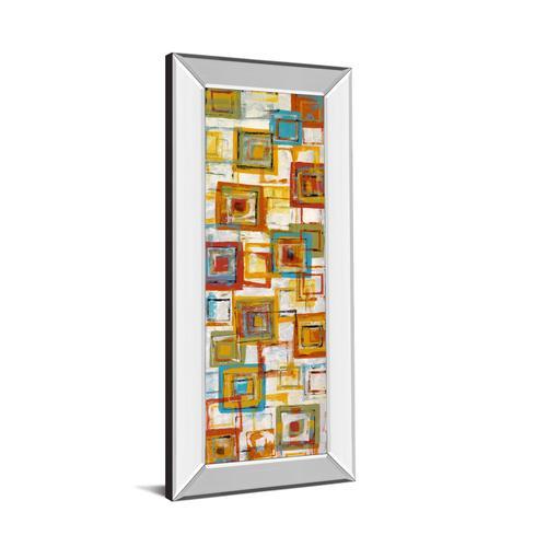 "Classy Art - ""Square Abstract"" Mirror Framed Print Wall Art"