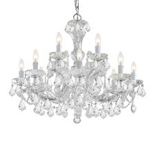 Maria Theresa 12 Light Clear Spectra Crystal Chandelier