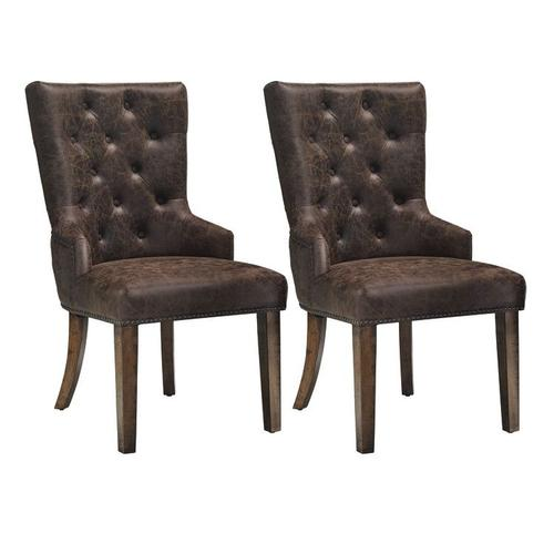 Gallery - Nelson 2-Pack Upholstered Side Chairs, Brown