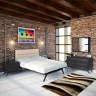 Addison 5 Piece Queen Bedroom Set in Black Beige Product Image