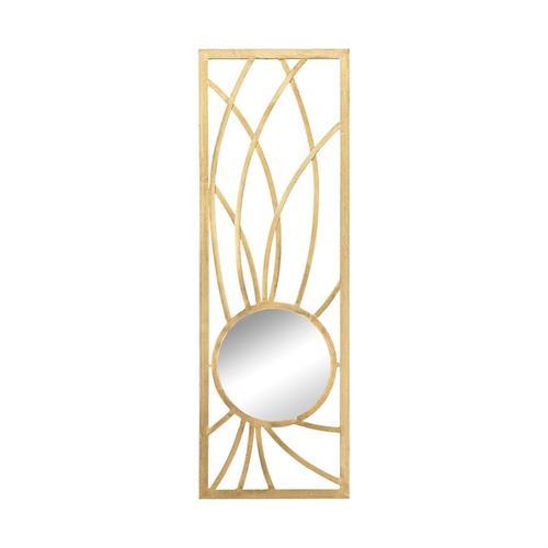 See Details - Elan Metal Frame Wall Mirror In Gold