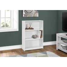 "BOOKCASE - 36""H / WHITE WITH 3 SHELVES"