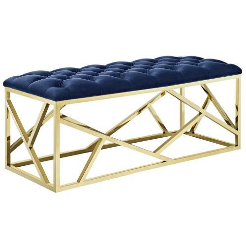 Intersperse Bench in Gold Navy