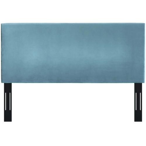 Taylor Twin Upholstered Performance Velvet Headboard in Sea Blue