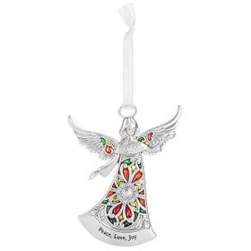 Angel Ornament - Peace, Love, Joy