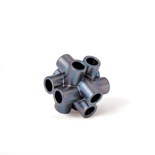 Cube Tube Sculpture-Black Luster-Lg
