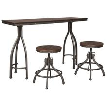 Odium Counter Height Dining Table and Bar Stools (set of 3)