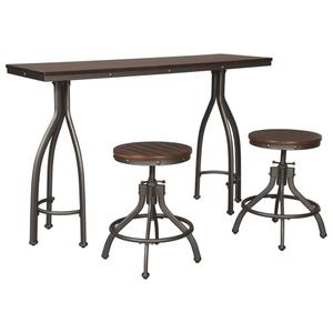 Ashley FurnitureSIGNATURE DESIGN BY ASHLEYOdium Counter Height Dining Room Table and Bar Stools (set of 3)