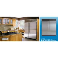 """See Details - 72"""" Side by Side Refrigerator/Freezer - Stainless Steel Interior, Stainless Steel Door"""