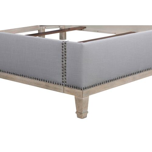 A.R.T. Furniture - Anna Upholstered California King Bed Nickel Weathered Oak Antique Pewter