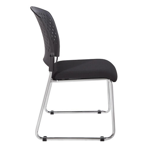 Visitors Chair With Plastic Back and Dolly