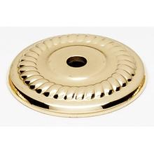 Rope Backplate A813-14P - Unlacquered Brass