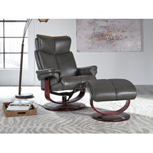 Brynn Gray Chair and Ottoman