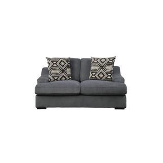 Orofino Love Seat with 2 Pillows Dark Grey