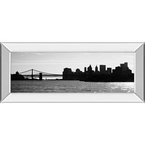 """Ny Scenes I"" By Jeff Pica Mirror Framed Print Wall Art"