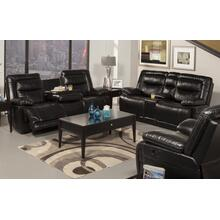 Black Dual Recliner Console Loveseat