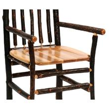 """Product Image - Barstool with Arms - 30"""" high - Antique Oak seat"""